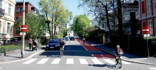 Neste uke starter arbeidet med ny sykkelrute på Frogner