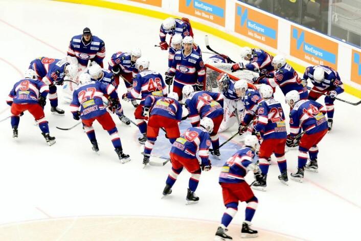 Vålerenga hockey foran kamp. Foto: Atle Enersen