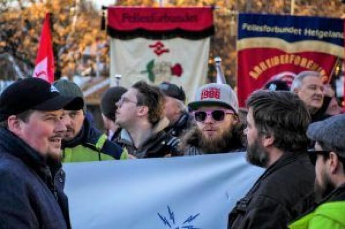 Mange møtte opp på markeringen utenfor Stortinget. Foto: Morten Lauveng Jørgensen
