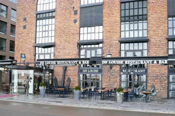 På Louise Restaurant & Bar, på Aker brygge, koste paret seg to ganger. Foto: Andy Mitchell / Flickr