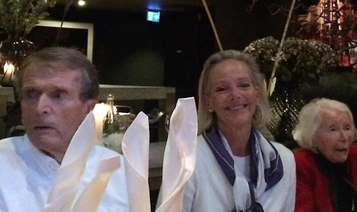 Far, jeg og svigermor på Uranienborghjemmet. Foto: Kjersti Falck