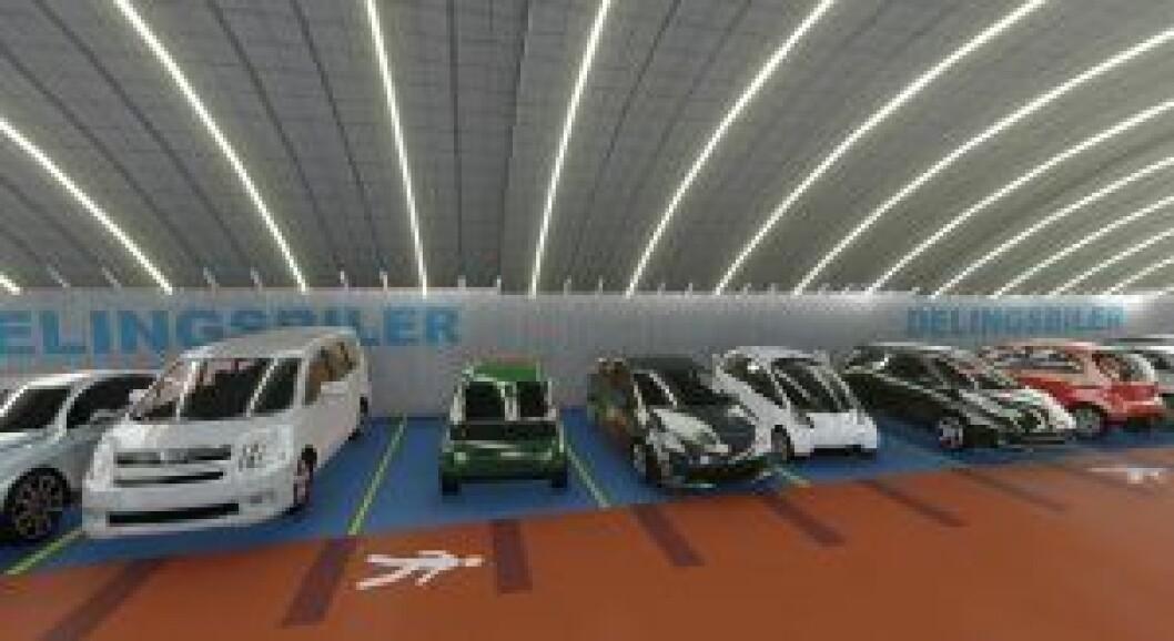 Artikkelforfatteren er kritisk til å skulle bygge parkeringsanlegg på Frogner. Tegning: Niels Torp