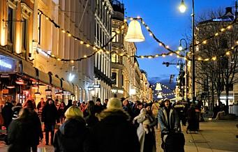 Helga da julestemningen kom til Oslo sentrum