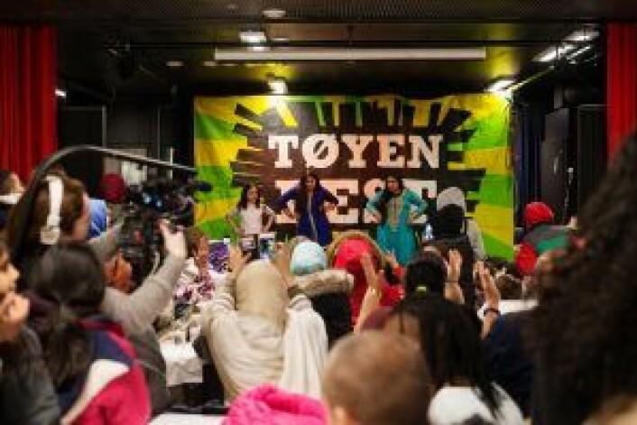 Fra åpningen av Aktivietetshuset K1 på Tøyen tidligere i år, et prosjekt tilknyttet Tøyenløftet. Foto: Oda Berby