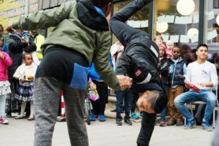 Capoeira på Tøyenfest. Foto: Oda Berby