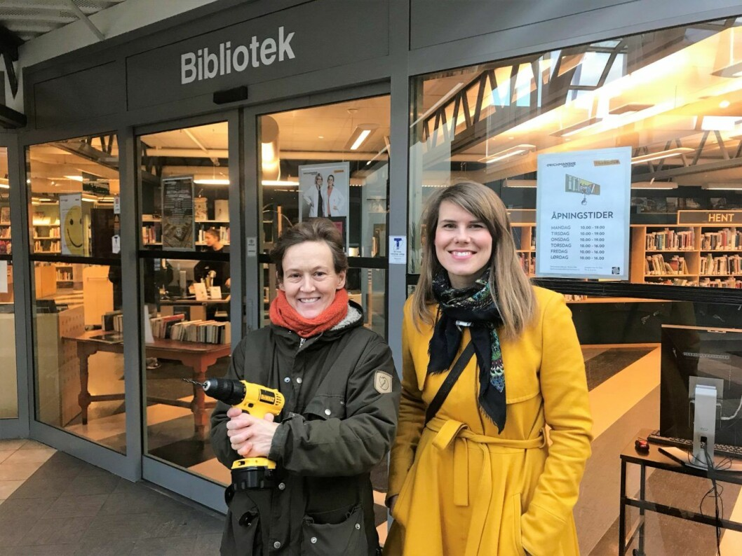 Siri Mittet (t.v.) og Sirin Hellvin Stav er de to forslagsstillerne til verktøysbibliotek og fiksehus i bydel Sagene. Foto: Privat