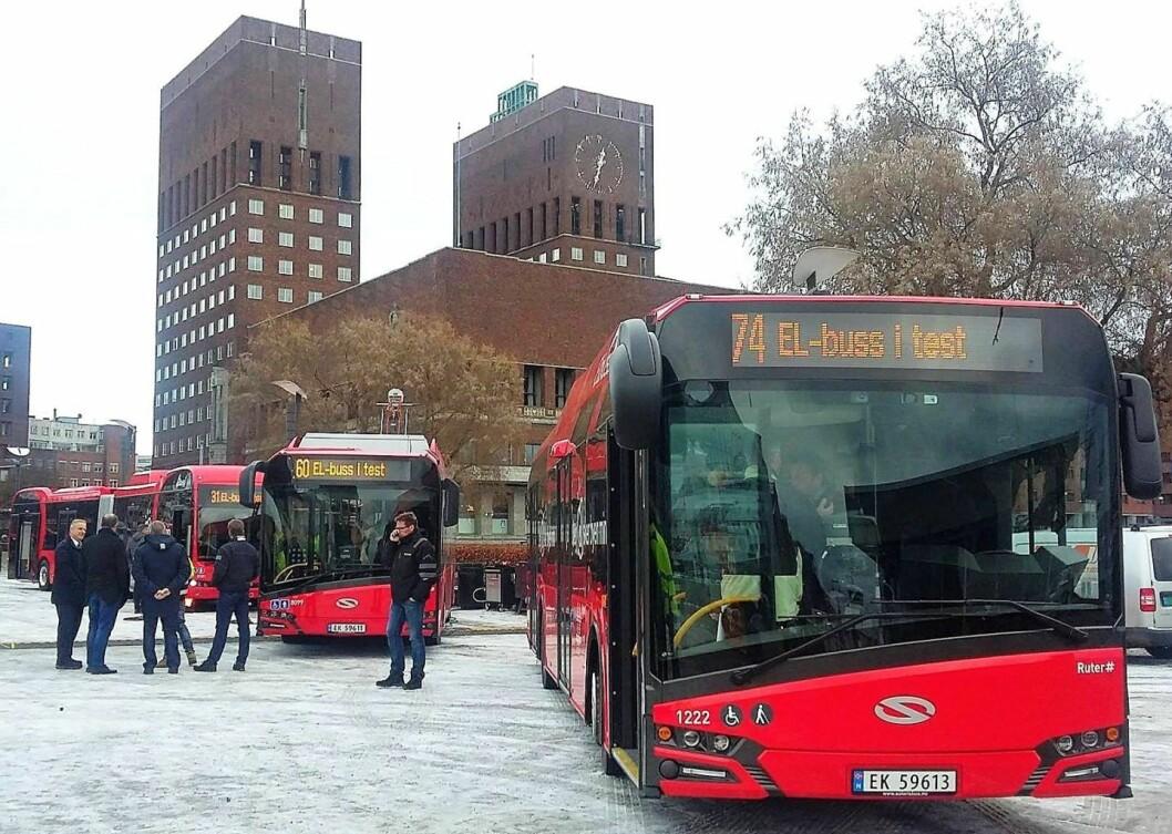 Fem nye elbusser skal kjøre to år i Oslo. De starter allerede før jul. Foto:  Irina Anca Tanase