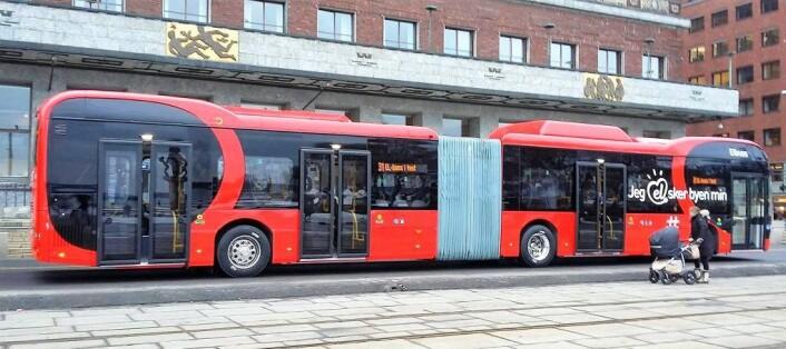 En av de nye elbussene i Oslo. Foto: Irina Anca Tanase