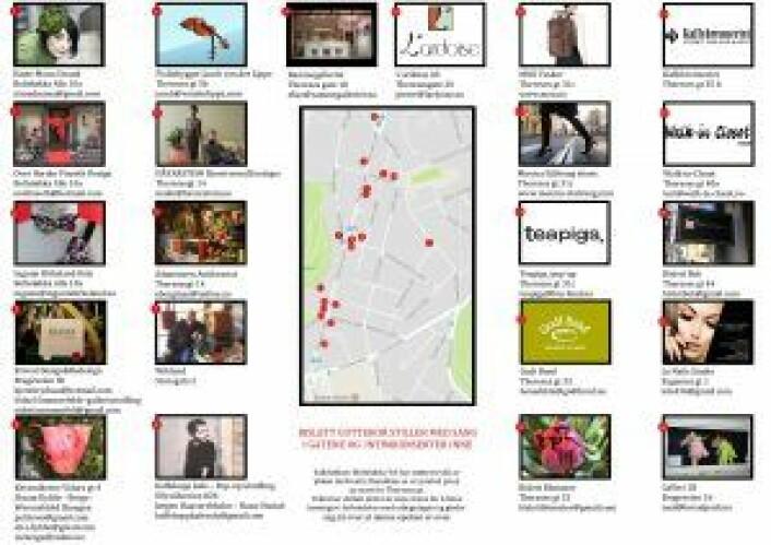 """22 atelierer, butikker og spisesteder ble med på Kreativ Runddans, """"et symbol på en ny start for Thereses gate""""."""
