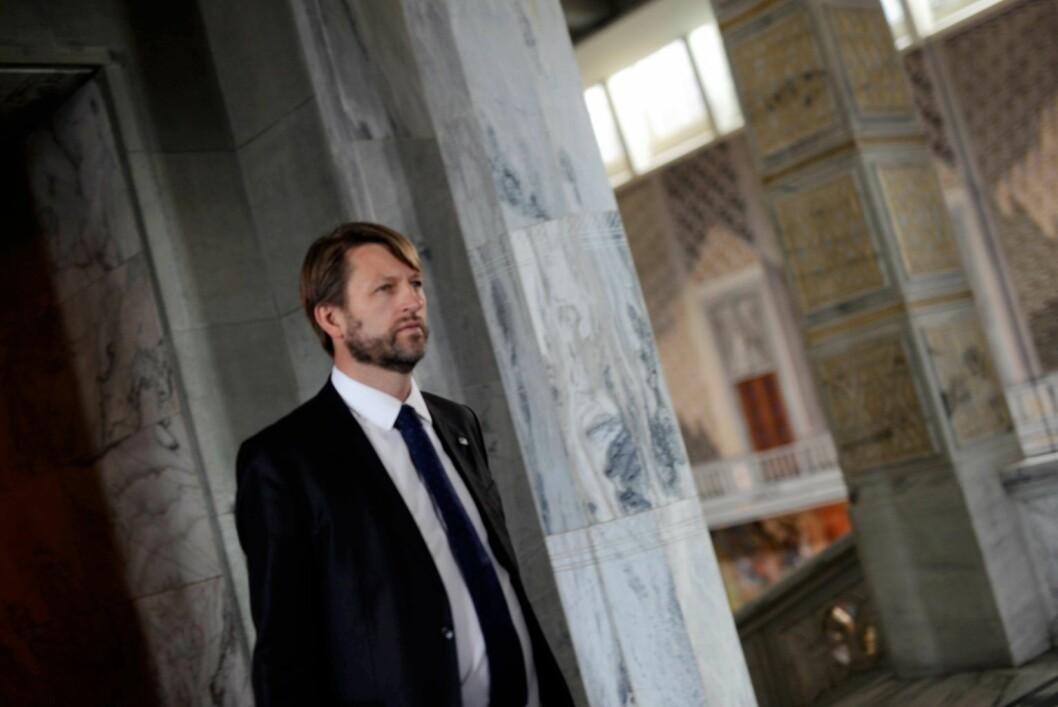 Høyres gruppeleder i Oslo bystyre, Eirik Lae Solberg, forsikrer at partiet har tenkt å fjerne eiendomsskatten. Foto: Christian Vassdal