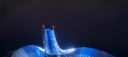Holmenkollen bades i blått og hvitt til ære for finsk uavhengighet