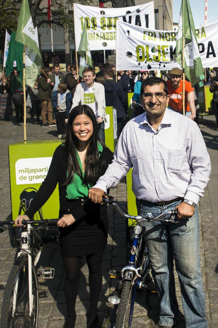 MDGs Oslo-representanter, Lan Marie Nguyen Berg og Shoaib Sultan, har stått i spissen for en omlegging av infrastrukturen i Oslo. Foto: Christian Vassdal