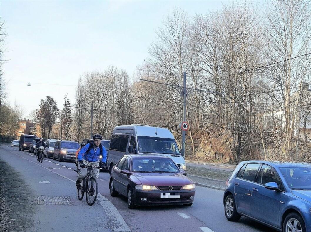 Høyre forteller deg ikke at de avhenger av mer bil i byen for å få budsjettet sitt til å gå opp. Foto: Tarjei Olsen