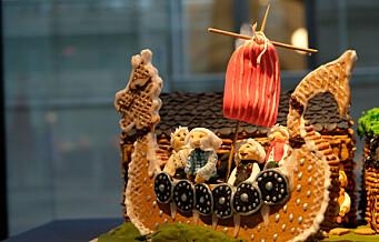 Eventyrlige pepperkakekreasjoner på Nasjonalmuseet. Se bildene fra årets søteste arkitekturutstilling