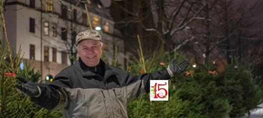 Han sørger for at det blir jul på Frogner