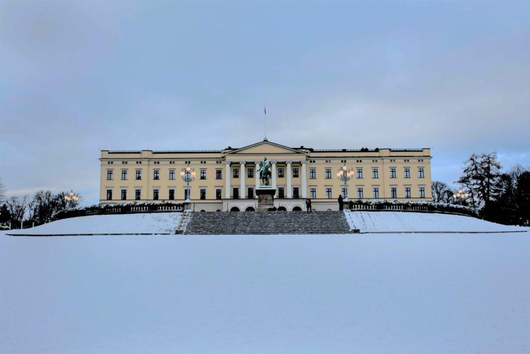 Snart blir deler av taket på Slottet dekket av solcellepaneler. Foto: Morten Lauveng Jørgensen