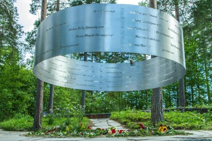 """Minnestedet """"Lysningen"""" på Utøya. Foto: Arbeiderpartiet"""