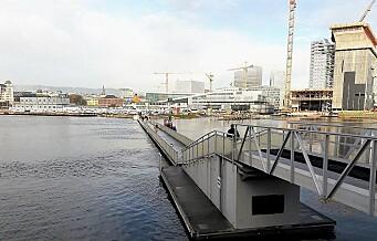 Om to år ønsker Oslo havn at gangbrua til Sørenga skal vekk