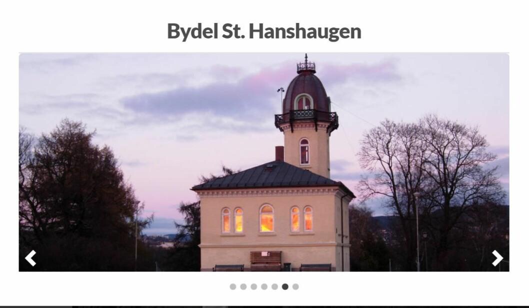 Skjermdump fra bydel St. Hanshaugens hjemmeside.