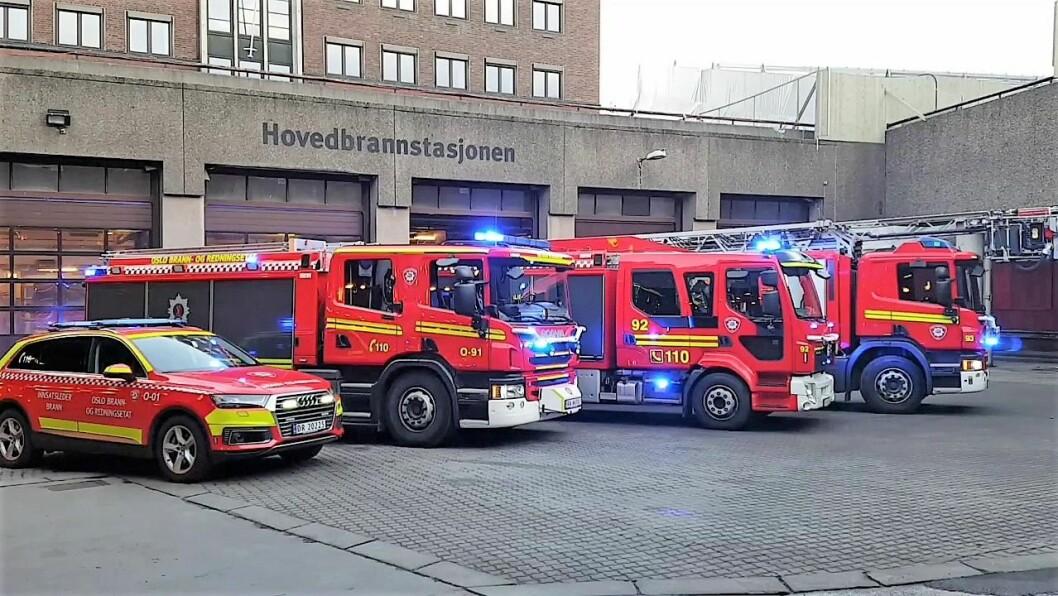 I dag er sentrum stasjon og hovedbrannstasjonen i Oslo lokalisert her, ved regjeringskvartalet. Foto: Brann Losen / Youtube