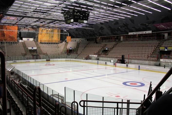 Her, i Gjøvik fjellhall, står kampen mot Storhamar førstkommende lørdag. Foto: Wikimedia Commons