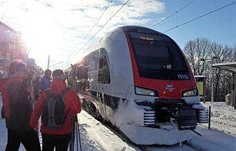 Det pleier å være glissent på Tøyen togstasjon, men tydeligvis ikke på skisøndager i januar