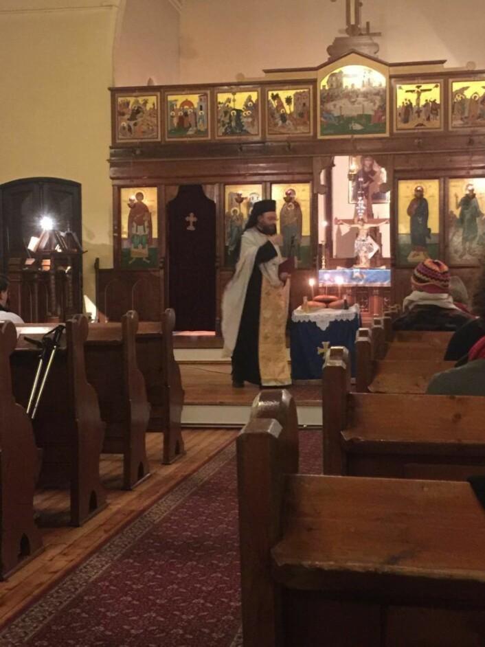 Presten i Maria Bebudelses Kirke. Foto: Kjersti