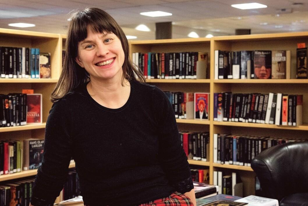 Kulturbyråd Rina Mariann Hansen ønsker oslofolks hjelp med å utvikle framtidens bibliotek. Foto: Bjørnar Morønning
