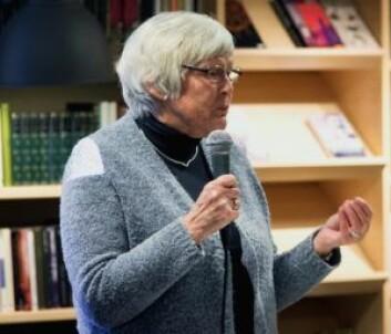 Liv Vågslid er en stor venn av lokalbibliotekene. Foto: Bjørnar Morønning