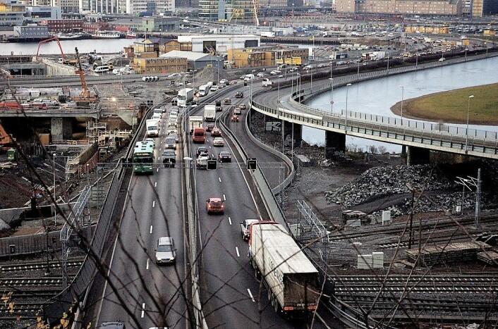 Rushtrafikken i Oslo. Foto: Jørgen Schyberg / Flickr
