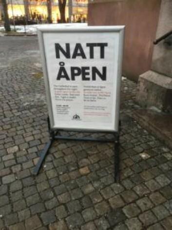 Domkirken er et åpent hus, for alle. Foto: Kjersti Opstad