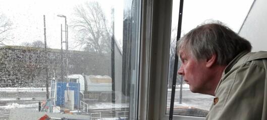 Snørenseanlegget S/S Terje renser all snøen fra snøryddingen i Oslo. Her ligger mobiltelefonen du mistet i snøfonna
