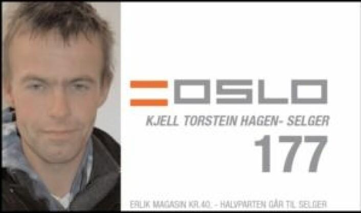 Selgerkortet til Kjell, fra 2005.