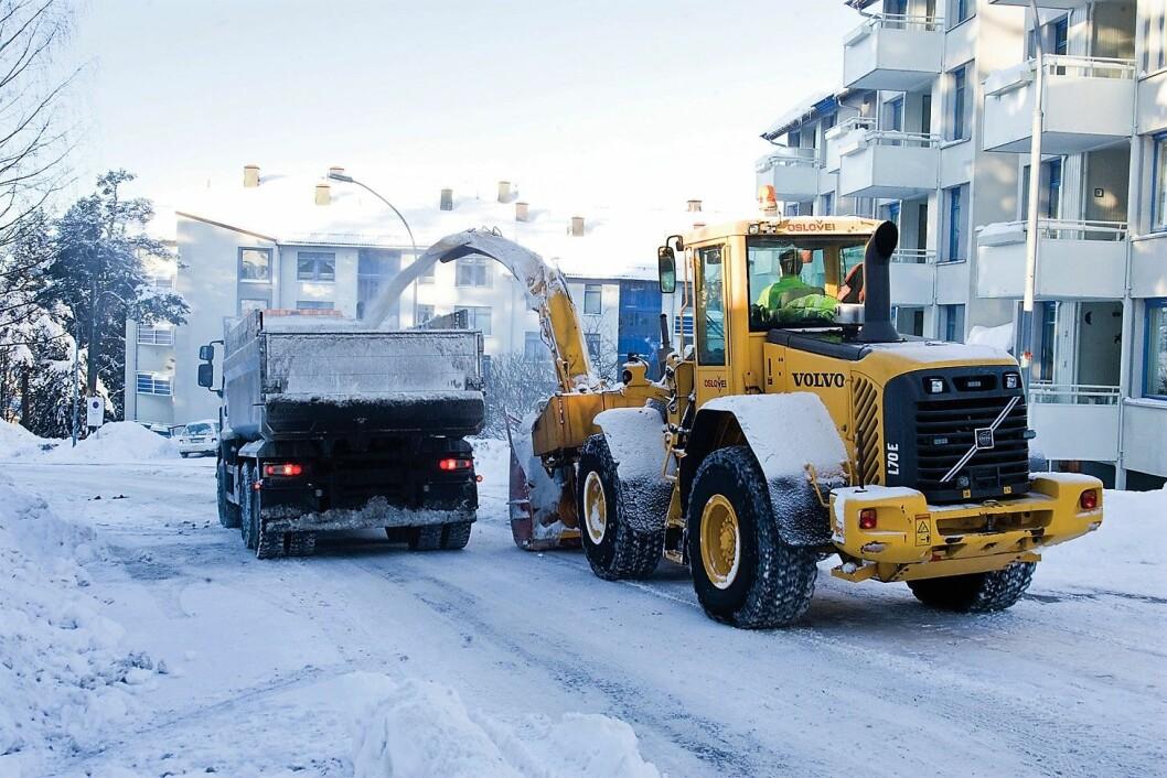 Brøytingen i Oslo har aldri vært dårligere, mener skribenten. Foto: Bymiljøetaten