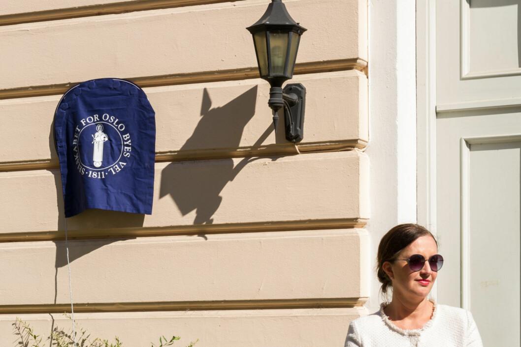 I mars vil Oslo Byes Vel avduke flere blå skilt med kvinnenavn. Hvilke navn, ønsker de ikke å gå ut med enda. Foto: Kristijan Velkovskij
