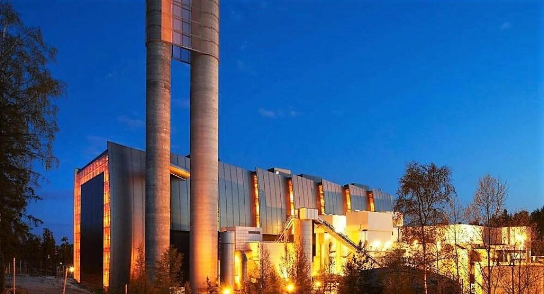 Forbrenningsanlegget på Klemetsrud er Oslos største utslippskilde av CO2, 12 prosent av Oslos utslipp av karbondioksid. Foto: Klemetsrudanlegget
