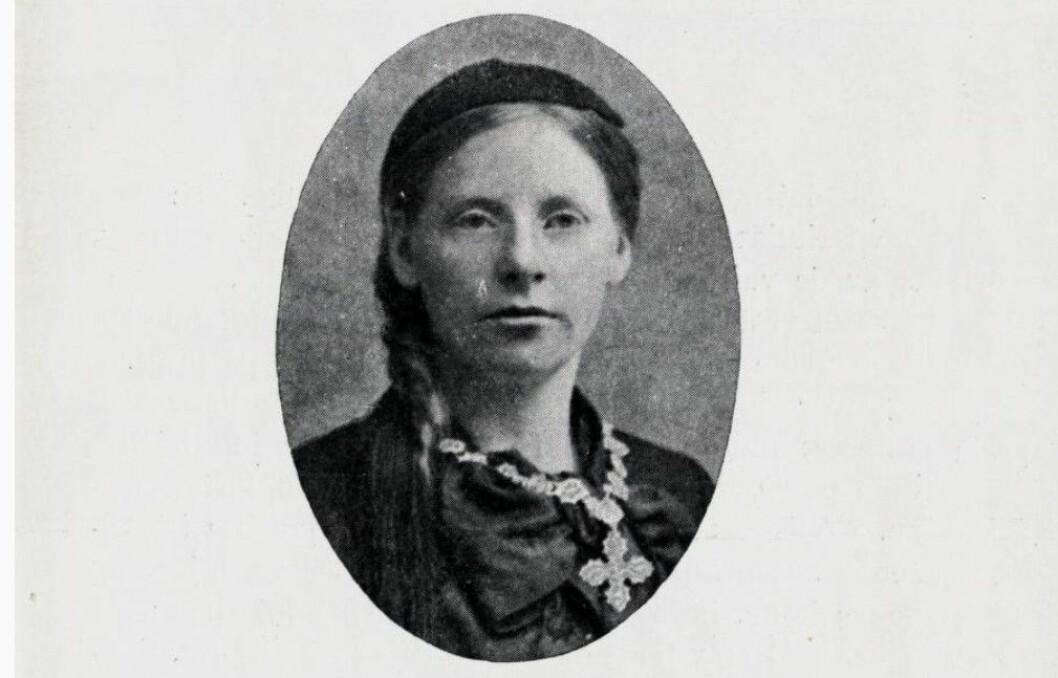 Portrett av Ólafía Jóhannsdóttir. Foto fra boken av Mirjam Devold, 1930, De ulykkelige venn