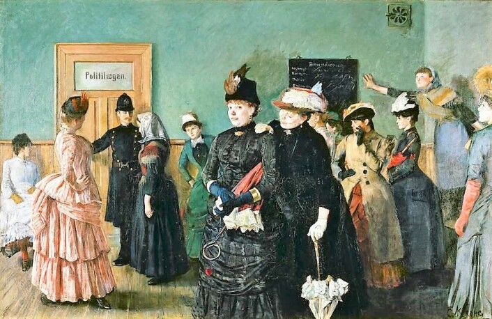 Christian Krogh skrev om og malte prostituerte Albertine. Foto: Wikipedia