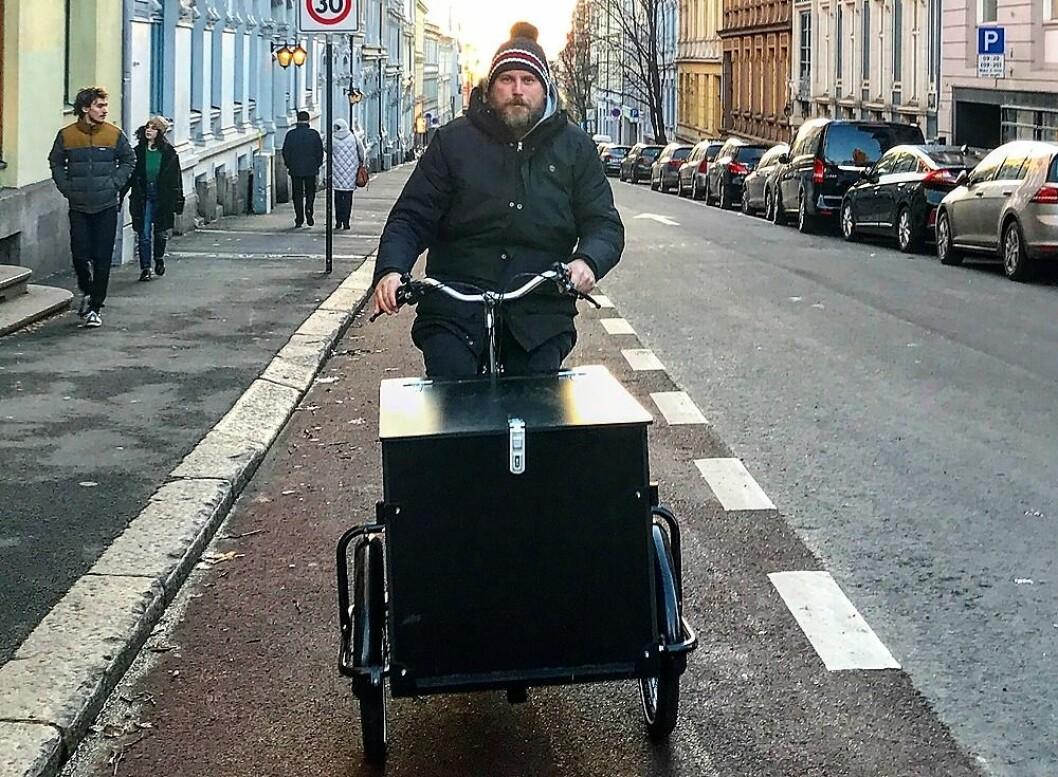 Geir Rognlien Elgvin takket beslutningstakere for sykkelsatsingen i Oslo. Da ble han latterliggjort fra hele landet. Foto: Privat