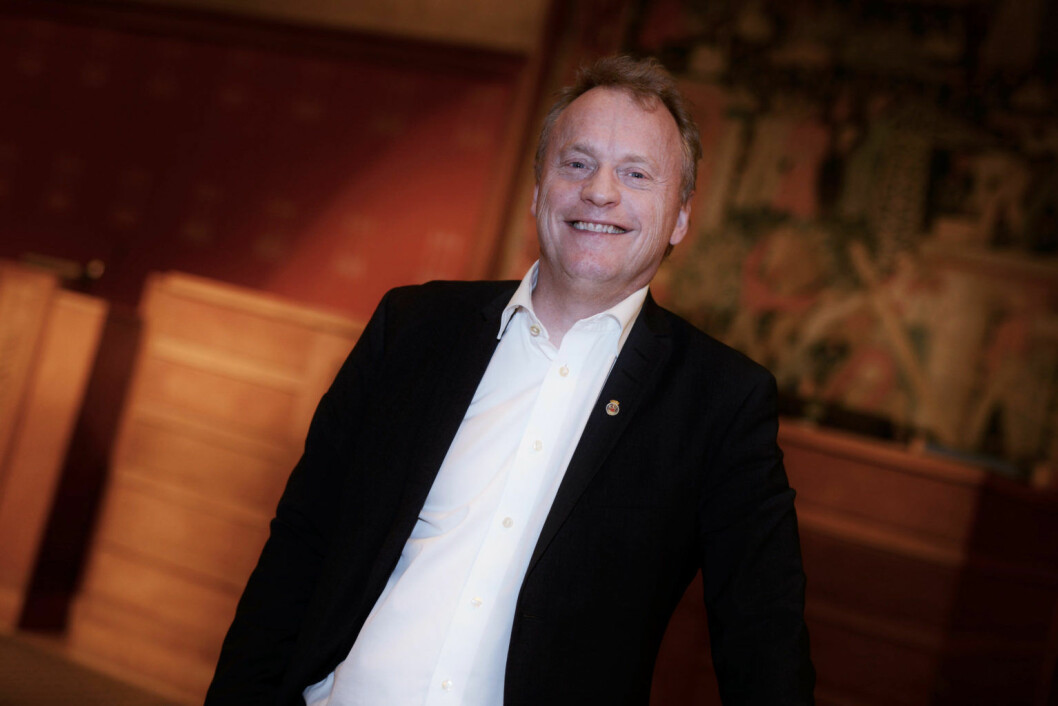 Byrådsleder Raymond Johansen er svært fornøyd med den nye innsynsløsningen. Foto: Christian Vassdal