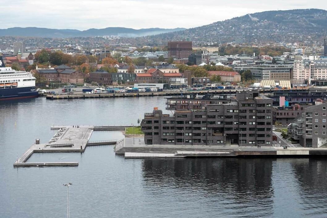 Det er her på østsiden av Sørenga den nye småbåthavna vil bli bygget. Foto: Annar Bjørgli