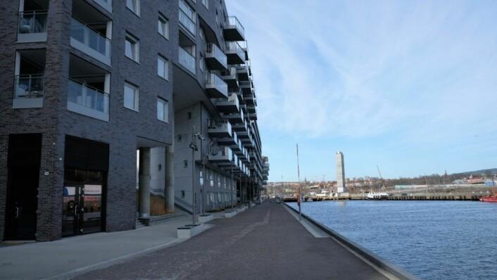 Østsiden av Sørenga, hvor den nye småbåthavna kanskje skal bygges. Foto: Christian Boger