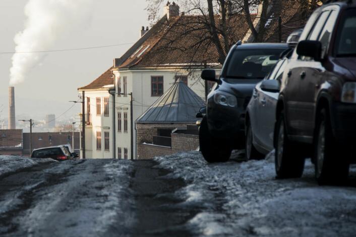 Slik ser det ut nå i Dynekilgata på Rosenhoff. Foto: Morten Lauveng Jørgensen