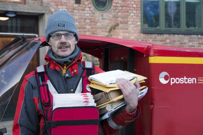 Postmann Morten Kristoffersen. Foto: Morten Lauveng Jørgensen