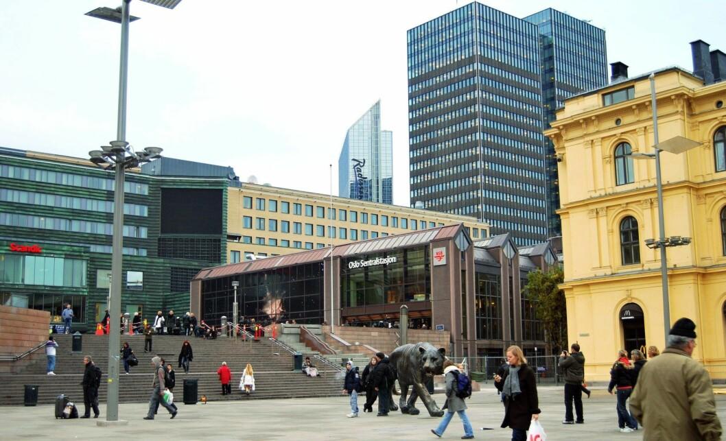 Bane NOR er sterkt uenige i Ruters tanker om en bussterminal over Oslo S. Foto: Wikimedia Commons