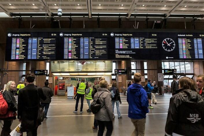 Fra avgangshallen på Oslo S. Foto: nrkbeta