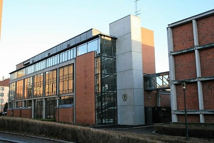 Dagens politihøyskole på Majorstua er i ferd med å bli for liten. . Foto: Wikimedia Commons