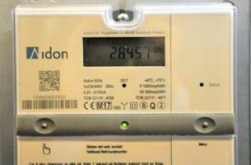 Nye AMS-strømmålere sender automatisk abonnentens el-forbruket til nettselskapet. Foto: Arnsten Linstad