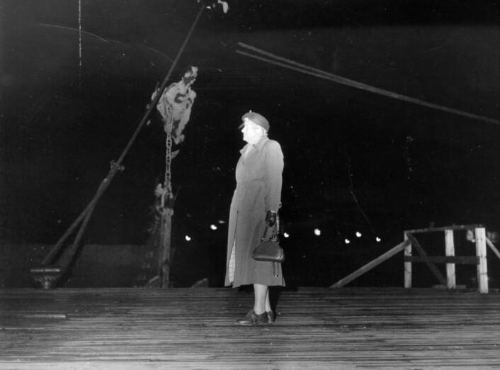 Tante Laura var som en mor for alle hun møtte, «den varmhjertede gatemisjonæren med det sprudlende humøret i Oslos havneområder, på båtene, i gatene og i portrom. Foto: Kirkens Bymisjon