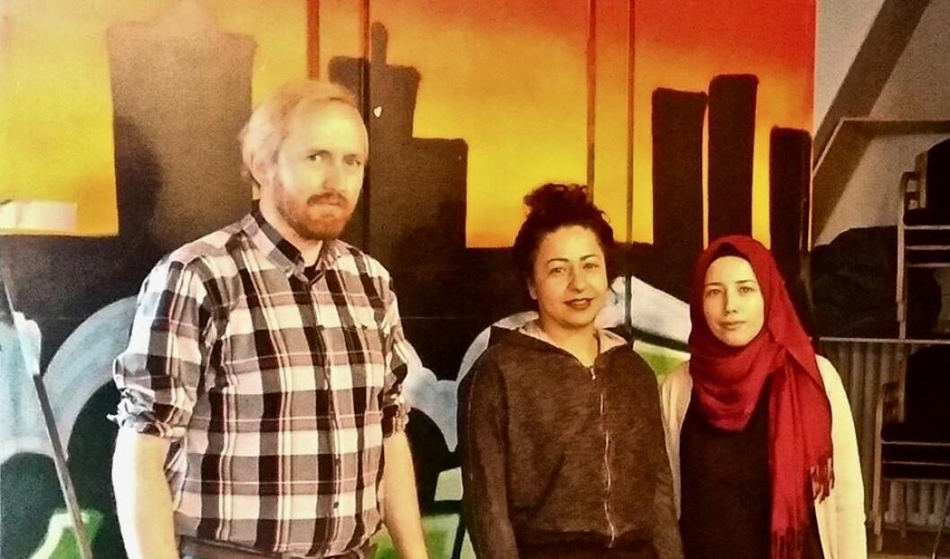 Fra venstre: Rune Berglund Steen, Nina Bahar og Rokaya Hossainali. Foto: Irina Tanase